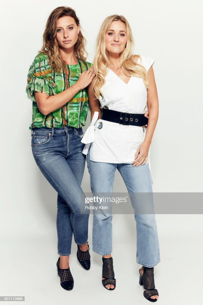 Actor/musicians Aly Michalka (L) and AJ Michalka from Aly & AJ pose for a portrait during Comic-Con 2017 at Hard Rock Hotel San Diego on July 22, 2017 in San Diego, California.