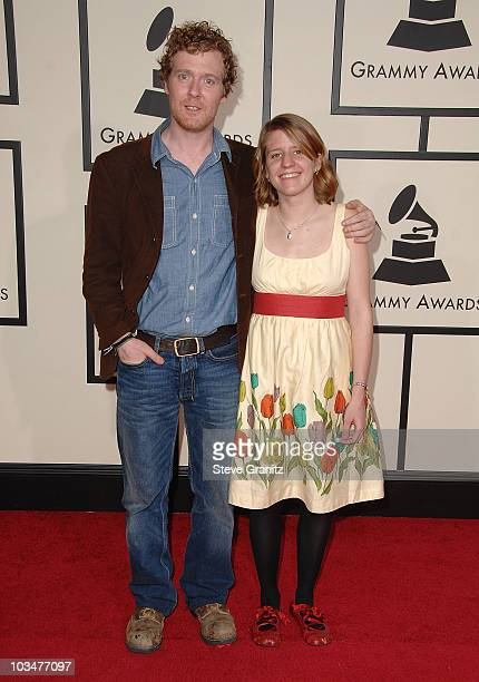 Actor/musicians Glen Hansard and Marketa Irglova arrive to the 50th Annual GRAMMY Awards at the Staples Center on February 10 2008 in Los Angeles...