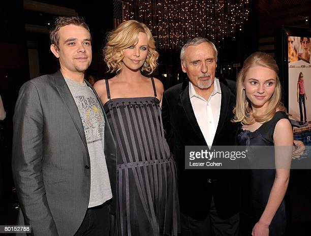 ActorNick Stahl Charlize Theron Dennis Hopper and AnnaSophia Robb arrive to Overture Films Presents 'Sleepwalking' Premiere at the Directors Guild of...
