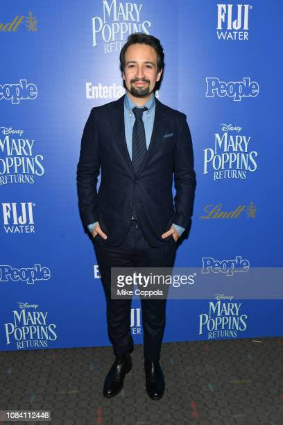 YORK DECEMBER Actor/playwright LinManuel Miranda attends the Mary Poppins Returns hosted by The Cinema Society at SVA Theater on December 17 2018 in...
