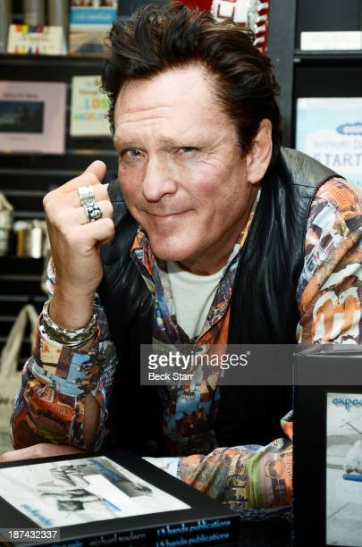 Actor/poet Michael Madsen signs copies of his new book 'Expecting Rain' at Book Soup on November 8 2013 in West Hollywood California
