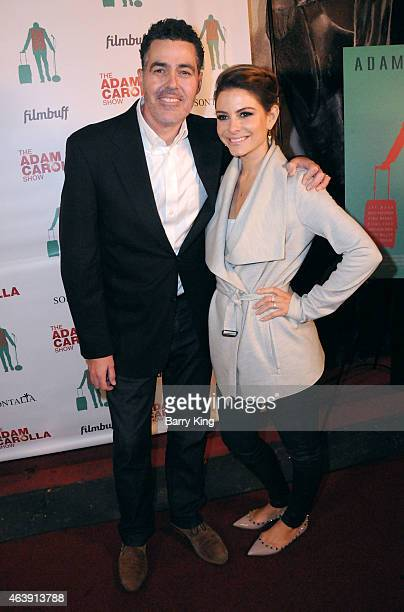 Actor/producer Adam Carolla and TV personality Maria Menounos arrive at the Los Angeles screening of 'Road Hard' at the Hollywood Improv on February...
