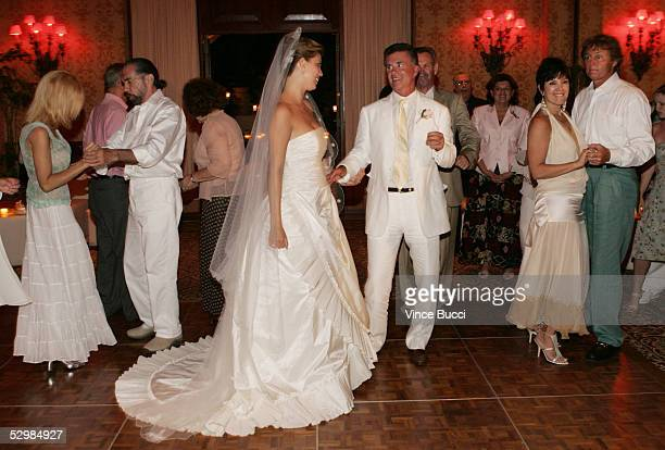 Actor/producer Alan Thicke and model Tanya Callau dance at their wedding reception on May 7 2005 at The OneOnly Pamilla Resort in Cabo San Lucas...