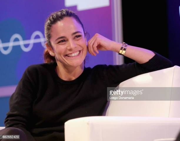 Actor/Producer Alice Braga speaks onstage at 'A Conversation with Wagner Moura and Alice Brag' during 2017 SXSW Conference and Festivals at Austin...