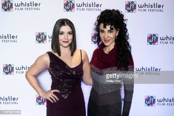 Actor/Producer Ana Golja and Actor Layla Alizada attend the red carpet for their film The Cuban at the Maury Young Arts Centre during the 2019...