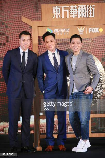 Actor/producer Andy Lau Takwah actor Francis Ng Chunyu and actor Joseph Chang Hsiaochuan attend 'Trading Floor' a Fox Networks Group original...