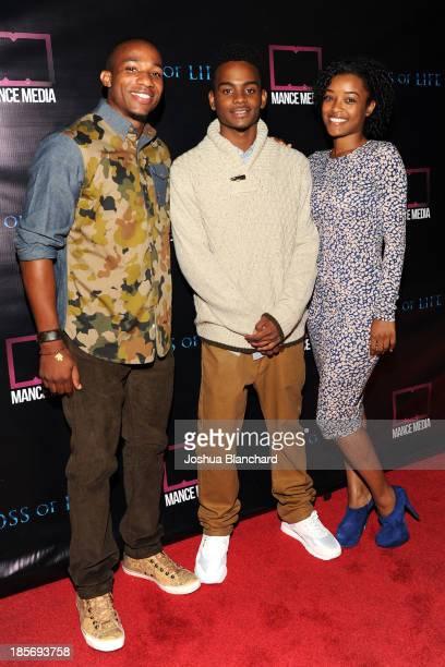 Actor/Producer Arlen Escarpeta Actor Reggie Range and Latoya Tonodea arrive at the Los Angeles premiere of 'Loss Of Life' at Laemmle NoHo 7 on...