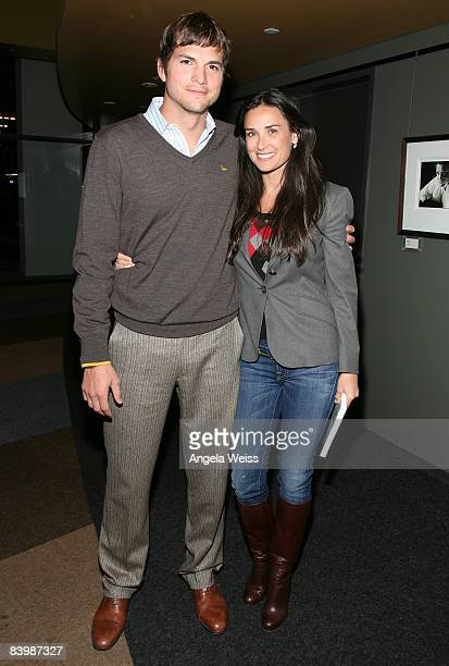 *EXCLUSIVE* Actor/producer Ashton Kutcher and actress Demi Moore attend the 'Los Angeles YearEnd Digital Media Review and Mixer' at the Writers Guild...