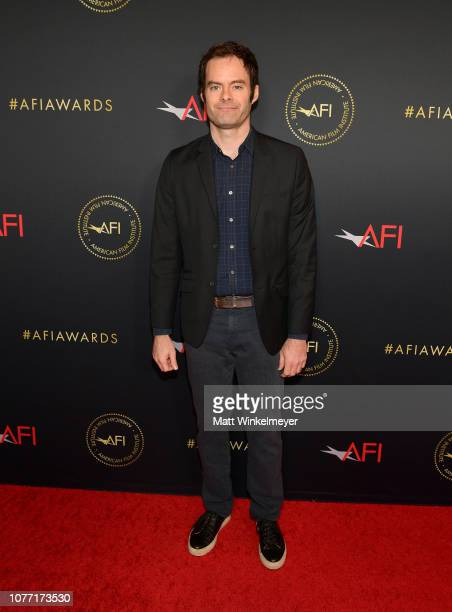 Actorproducer Bill Hader attends the 19th Annual AFI Awards at Four Seasons Hotel Los Angeles at Beverly Hills on January 4 2019 in Los Angeles...