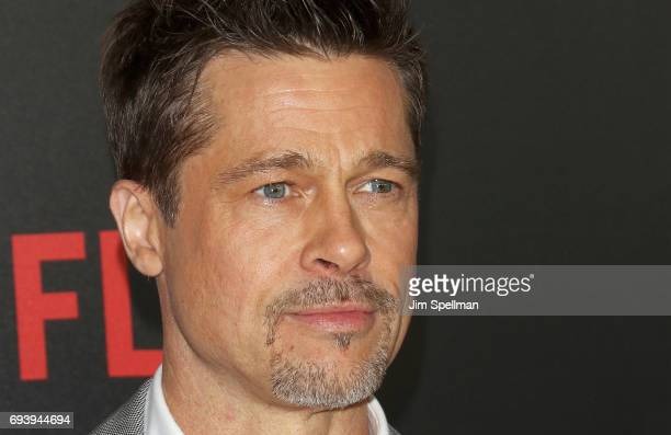 Actor/producer Brad Pitt attends The New York premiere of Okja hosted by Netflix at AMC Lincoln Square Theater on June 8 2017 in New York City