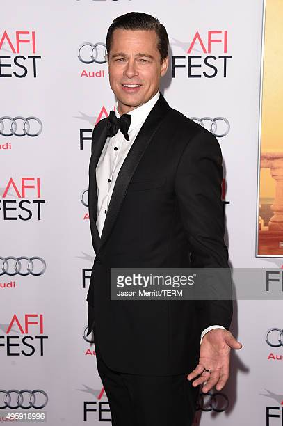 Actorproducer Brad Pitt attends the opening night gala premiere of Universal Pictures' 'By the Sea' during AFI FEST 2015 presented by Audi at TCL...