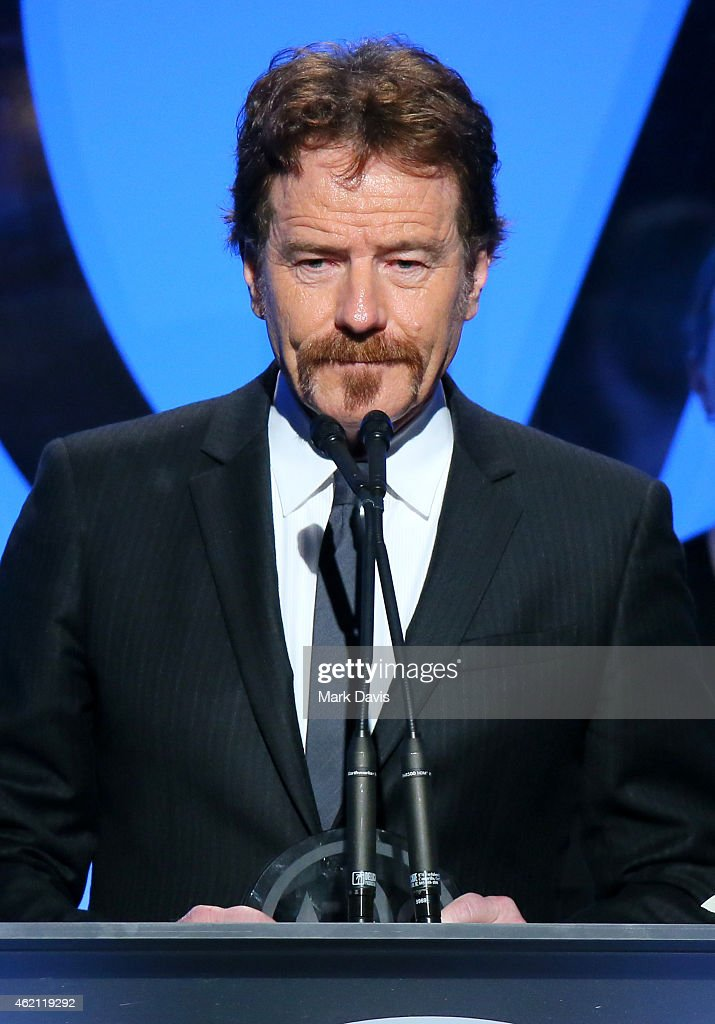 Actor/producer Bryan Cranston accepts the Outstanding Producer of Episodic Television, Drama award for 'Breaking Bad' onstage during the 26th Annual Producers Guild Of America Awards at the Hyatt Regency Century Plaza on January 24, 2015 in Los Angeles, California.