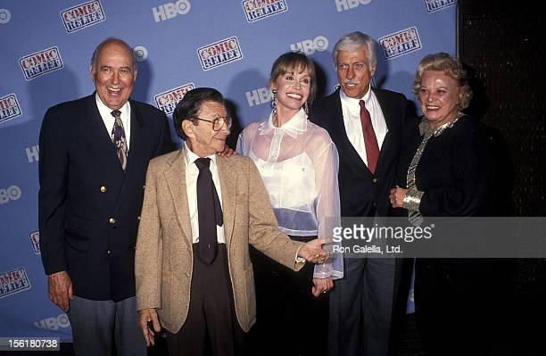 Actor/Producer Carl Reiner actor Morey Amsterdam actress Mary Tyler Moore actor Dick Van Dyke and actress Rose Marie attend the HBO Television...