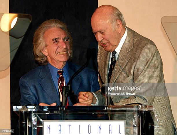 Actor/producer Carl Reiner and director Arthur Hiller speak at the First Annual Jewish Image Awards, presented by the Los Angeles Entertainment...