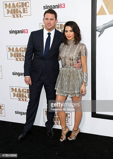 Actor/producer Channing Tatum and actress Jenna Dewan Tatum attend the premiere of Warner Bros Pictures' 'Magic Mike XXL' at TCL Chinese Theatre IMAX...