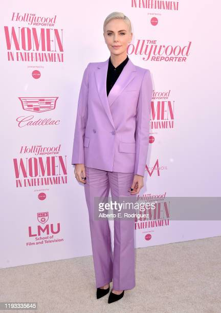 Actor-producer Charlize Theron attends The Hollywood Reporter's Power 100 Women in Entertainment at Milk Studios on December 11, 2019 in Hollywood,...