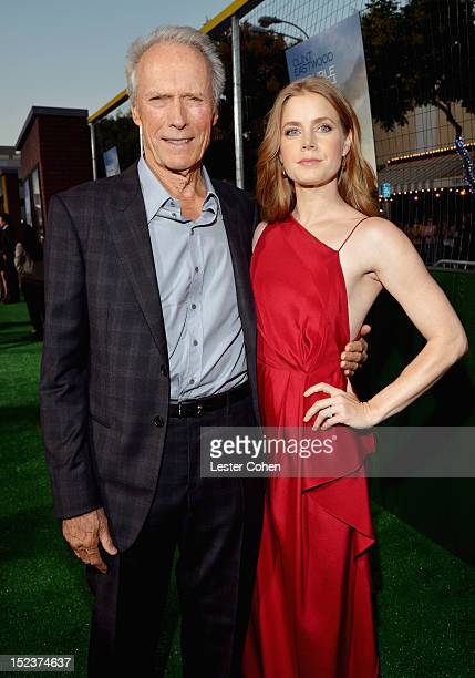 """Actor/Producer Clint Eastwood and actress Amy Adams arrive at the """"Trouble With The Curve"""" Premiere at Mann's Village Theatre on September 19, 2012..."""