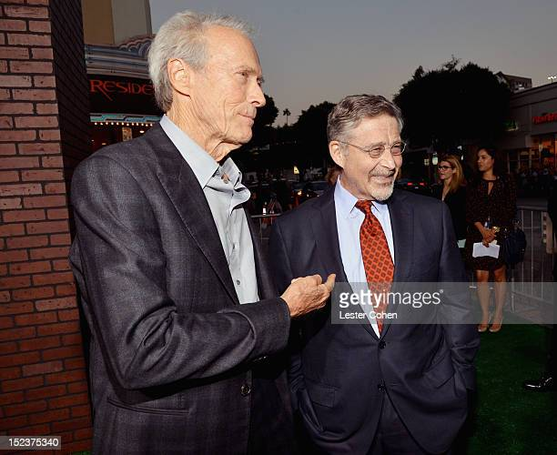 Actor/Producer Clint Eastwood and Warner Bros Entertainment Chairman CEO Barry Meyer arrive at the Trouble With The Curve Premiere at Mann's Village...