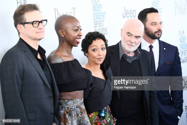 Actor/producer Colin Firth producer Oge Egbuonu actor Ruth Negga producer Ged Doherty and actor Nick Kroll attend the 2017 Film Independent Spirit...