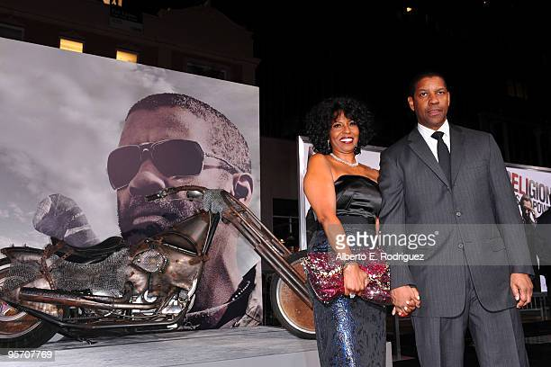 Actor/producer Denzel Washington and wife Pauletta Washington arrive at the premiere of Warner Bros The Book Of Eli held at Grauman's Chinese Theatre...