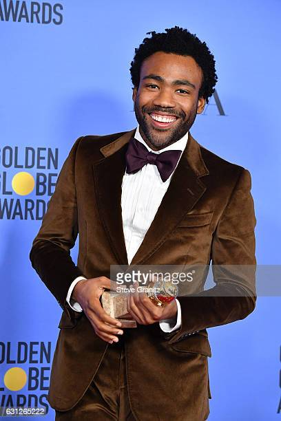 Actor/producer Donald Glover poses in the press room during the 74th Annual Golden Globe Awards at The Beverly Hilton Hotel on January 8 2017 in...