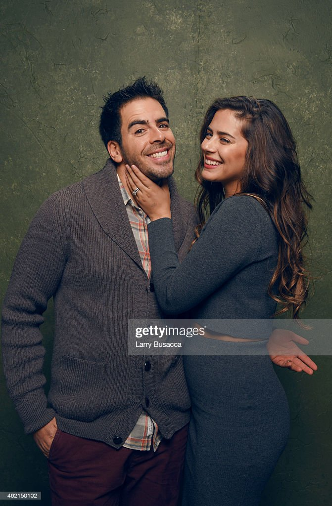 Actor/producer Eli Roth and actress Lorenza Izzo from 'Knock Knock' pose for a portrait at the Village at the Lift Presented by McDonald's McCafe during the 2015 Sundance Film Festival on January 24, 2015 in Park City, Utah.