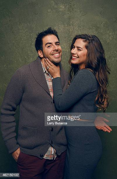 Actor/producer Eli Roth and actress Lorenza Izzo from Knock Knock pose for a portrait at the Village at the Lift Presented by McDonald's McCafe...