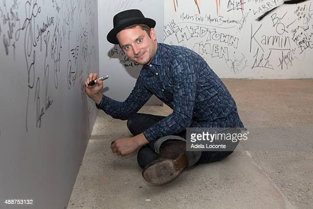 Actor/Producer Elijah Wood discuss their horror/comedy Cooties at AOL Studios In New York on September 17 2015 in New York City