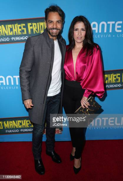 Actor/producer Eugenio Derbez and wife actress Alessandra Rosaldo attend the premiere of Pantelion Films' ' No Manches Frida 2' at Regal Cinemas LA...
