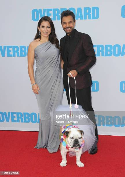 Actor/producer Eugenio Derbez and wife Alessandra Derbez arrive with Fiona for the Premiere Of Lionsgate And Pantelion Film's Overboard held at...