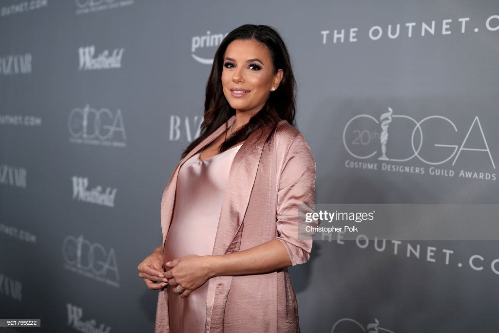 Actor-producer Eva Longoria attends the Costume Designers Guild Awards at The Beverly Hilton Hotel on February 20, 2018 in Beverly Hills, California.