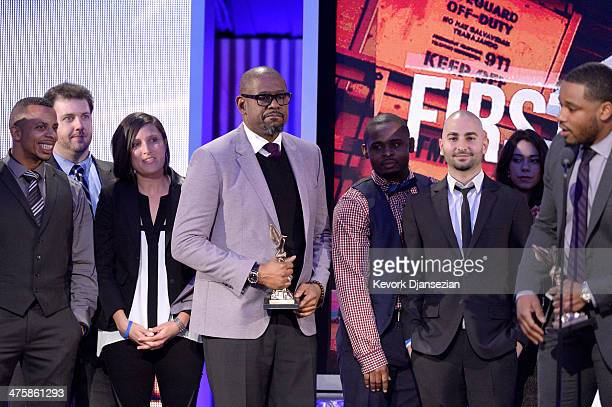 Actor/producer Forest Whitaker and director Ryan Coogler accept the Best First Feature award for 'Fruitvale Station' onstage during the 2014 Film...