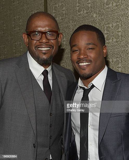 Actorproducer Forest Whitaker and director Ryan Coogler attend the Vanity Fair event honoring Michael B Jordan of Fruitvale Station at Soho House on...