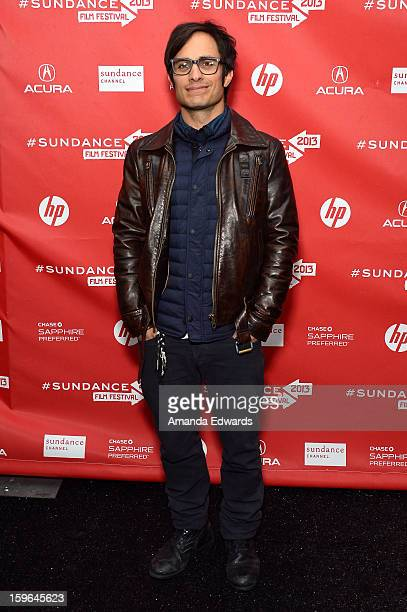 Actor/producer Gael Garcia Bernal attends the 'Who Is Dayani' premiere during the 2013 Sundance Film Festival at The Marc Theatre on January 17 2013...
