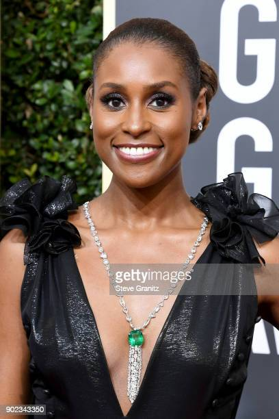 Actor/producer Issa Rae attends The 75th Annual Golden Globe Awards at The Beverly Hilton Hotel on January 7, 2018 in Beverly Hills, California.