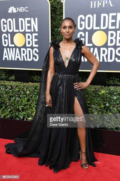 Actor/producer Issa Rae attends The 75th Annual Golden Globe Awards at The Beverly Hilton Hotel on January 7 2018 in Beverly Hills California