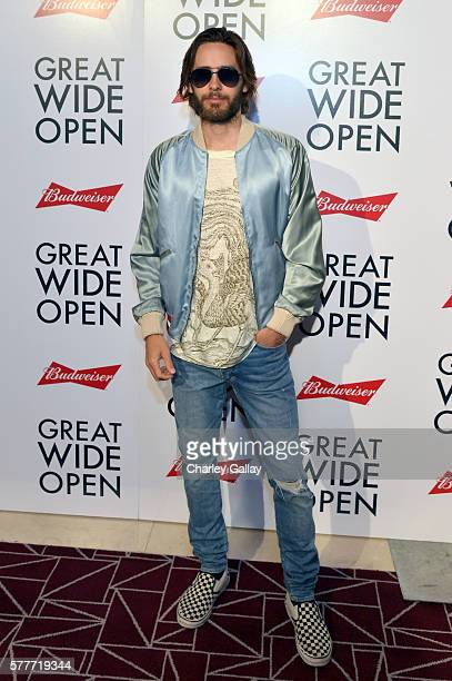Actor/producer Jared Leto attends the Premiere of 'Great Wide Open' produced in partnership with Budweiser at The London Hotel on July 19 2016 in...