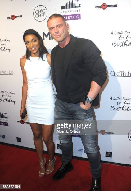 "Actor/producer Jason Gibson and Kacey Jordan arrive for the Premiere Of Penny Black Promotions' ""A Little Something For Your Birthday"" held at..."