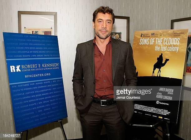 Actor/producer Javier Bardem attends a special New York screening of Sons Of The Clouds at IFC Center on October 16 2012 in New York City