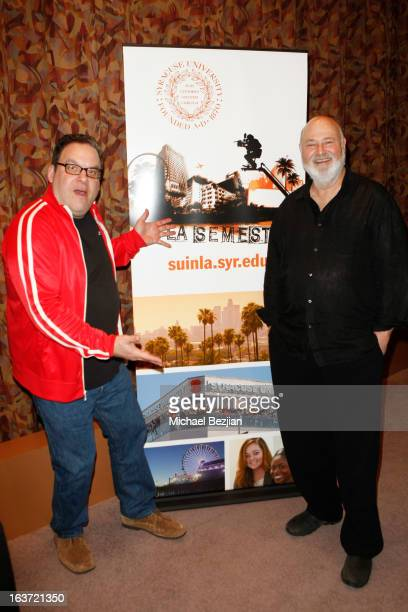 Actor/Producer Jeff Garlin and Actor/Director Rob Reiner attend Syracuse University Presents Comedy Tonight: A Conversation With Rob Reiner Moderated...