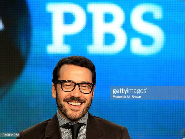 Actor/producer Jeremy Piven of the television show 'Mr Selfridge' speaks onstage during the PBS Portion Day 2 of the 2013 Winter Television Critics...