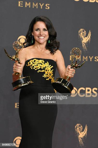 Actor/producer Julia Louis-Dreyfus, winner of the awards for Outstanding Comedy Series and Outstanding Lead Actress in a Comedy Series for 'Veep,'...