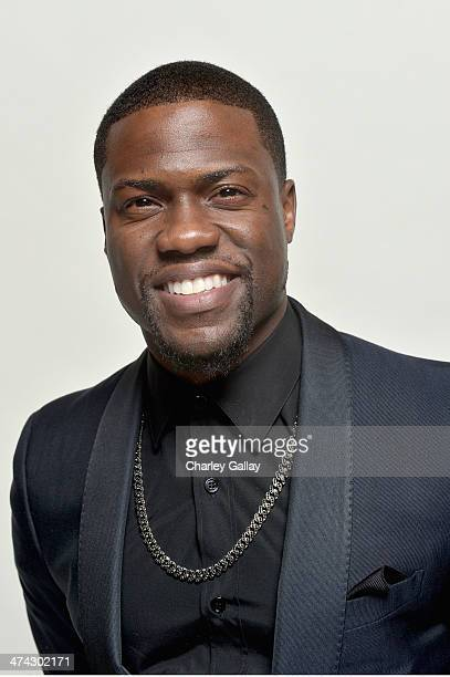 Actor/producer Kevin Hart winner of the Entertainer of the Year Award poses for a portrait during the 45th NAACP Image Awards presented by TV One at...