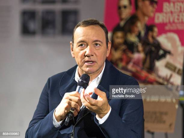 Actor/producer Kevin Spacey talks on stage at Cars Arts Beats A Night Out With 'Baby Driver' at the Petersen Automotive Museum on October 4 2017 in...