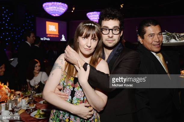 Actorproducer Lena Dunham and recording artist Jack Antonoff attend PreGRAMMY Gala and Salute to Industry Icons Honoring Debra Lee on February 11...