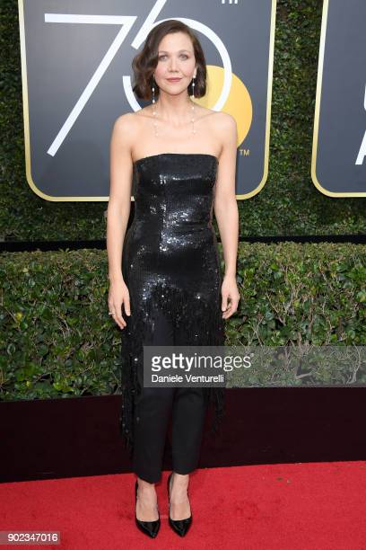 Actor/Producer Maggie Gyllenhaal attends The 75th Annual Golden Globe Awards at The Beverly Hilton Hotel on January 7 2018 in Beverly Hills California