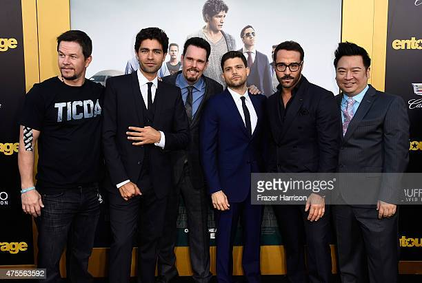 Actor/producer Mark Wahlberg, actors Adrian Grenier, Kevin Dillon, Jerry Ferrara, Jeremy Piven and Rex Lee attend the premiere of Warner Bros....