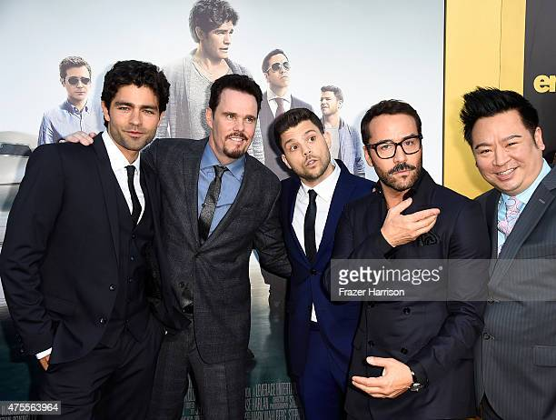 Actor/producer Mark Wahlberg actors Adrian Grenier Kevin Dillon Jerry Ferrara Jeremy Piven and Rex Lee attend the premiere of Warner Bros Pictures'...