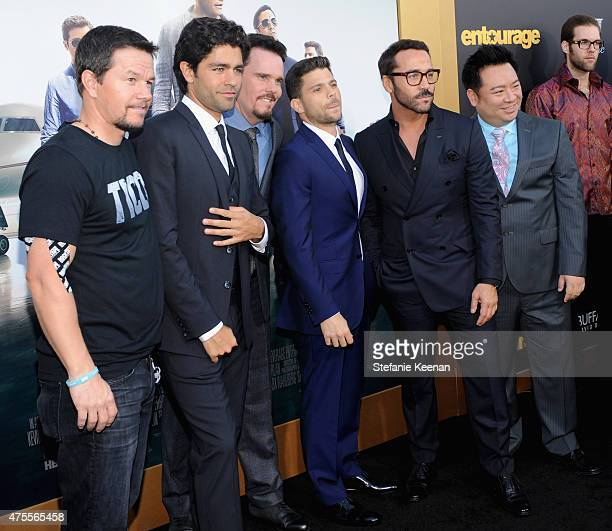 Actor/producer Mark Wahlberg, actors Adrian Grenier, Kevin Dillon, Jerry Ferrara, Jeremy Piven and Rex Lee attend the premiere of ENTOURAGE,...