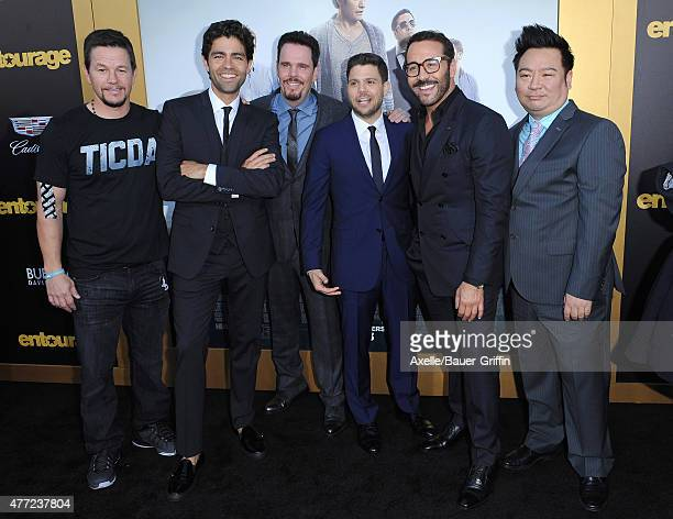 Actor/producer Mark Wahlberg actors Adrian Grenier Kevin Dillon Jerry Ferrara Jeremy Piven and Rex Lee arrive at the Los Angeles premiere of...